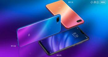 Xiaomi Mi 8 Lite su degradado es transparente