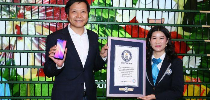 Lin Bin CEO Xiaomi consigue un nuevo Guinness World Record con 1005 Xiaomi Play