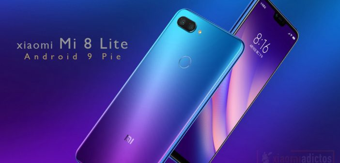 Xiaomi Mi 8 lite recibe android 9 pie
