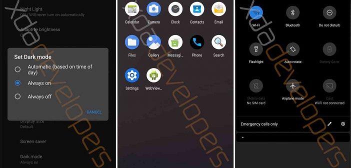 Android Q filtrado nuevas características modo oscuro tema oscuro noche xda developers Xiaomi Adictos