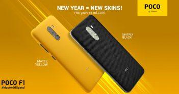 Nuevos skins xiaomi pocophone f1 matte ywllow y matrix black