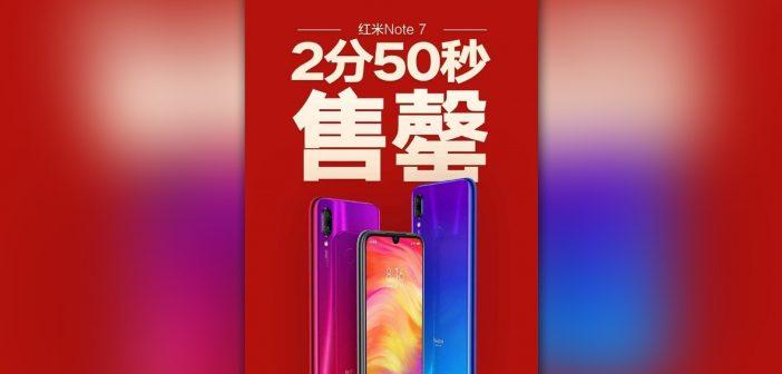 Redmi Note 7 se vende en tan solo 2 minutos y 50 segundas en su tercera oleada de lote stock Noticias Xiaomi Adictos