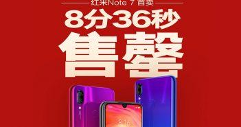 Xiaomi Redmi Note 7 vende 1 millon de unidades durante su primer día en tan solo 8 minutos y 36 segundos