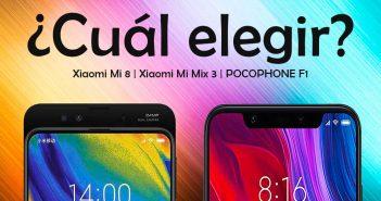 comparativa Xiaomi Mi 8 vs xiaomi mi mix 3 vs pocophone f1 noticias xiaomi adictos cual elegir
