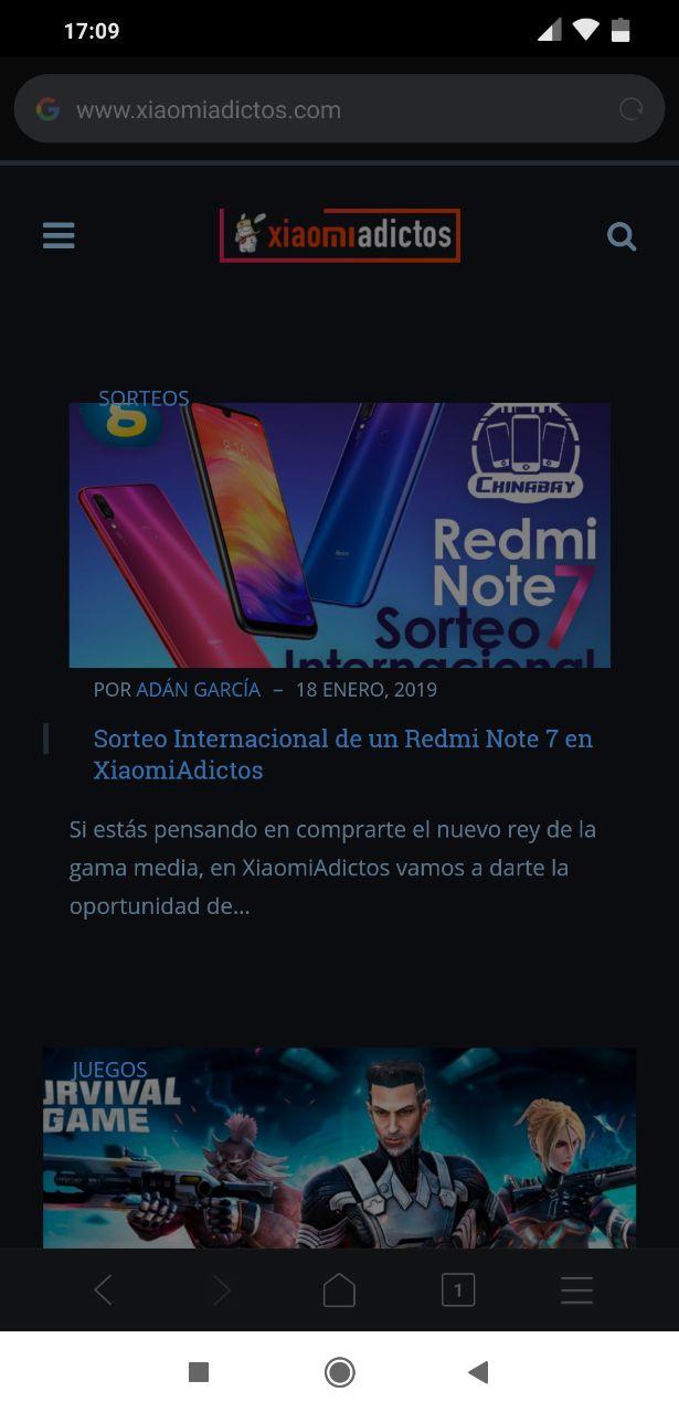 Modo Noche/Nocturno Xiaomi Mint Browser Noticias Xiaomi Adictos