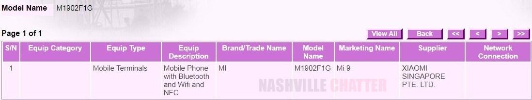 Certificación IMDA Xiaomi Mi 9 características y precio