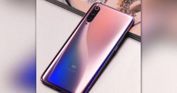 Xiaomi Mi 9 efecto degradado