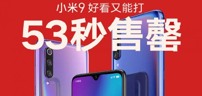 Xiaomi mi 9 se agota en 53 segundos en su primer día en China noticias xiaomi adictos xiaomiadictos