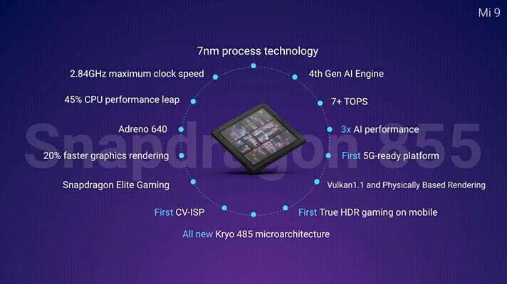 Xiaomi Mi 9 cuenta con procesador qualcomm snapdragon 855