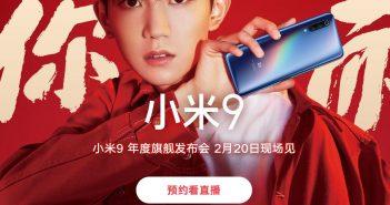 Xiaomi Mi 9 ver en directo presentación video noticias xiaomi adictos