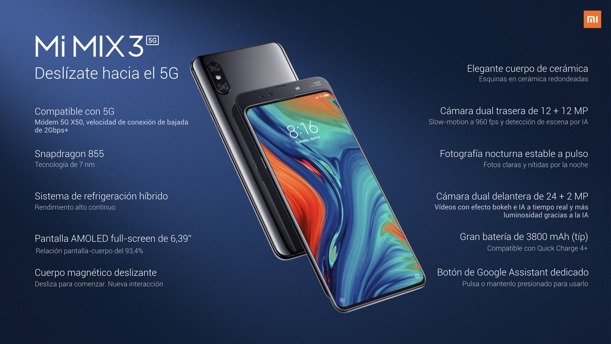 Xiaomi Mi Mix 3 5G GLOBAL características y precio noticias xiaomi adictos