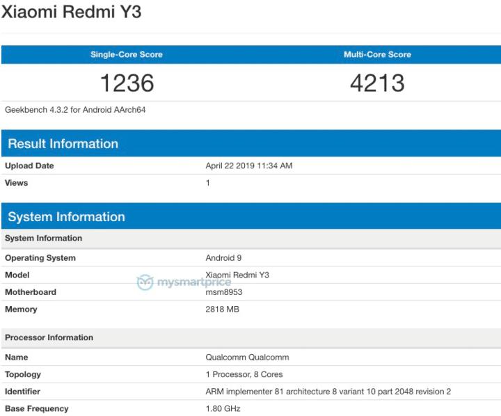 Redmi Y3, Redmi S3 características especificaciones y precio. Noticias Xiaomi Adictos