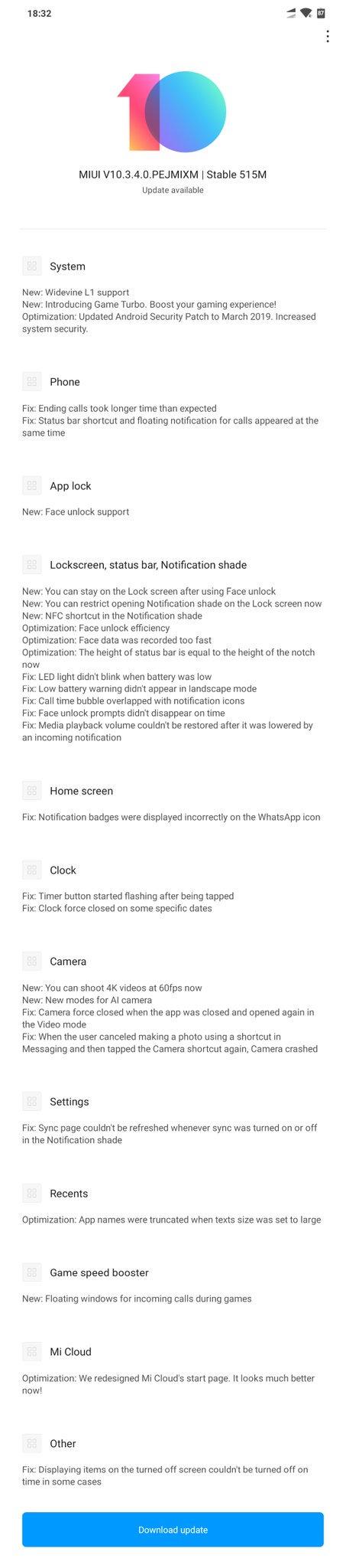 MIUI v10.3.4.0.PEJMIXM POCOPHONE F1 xiaomi noticias adictos