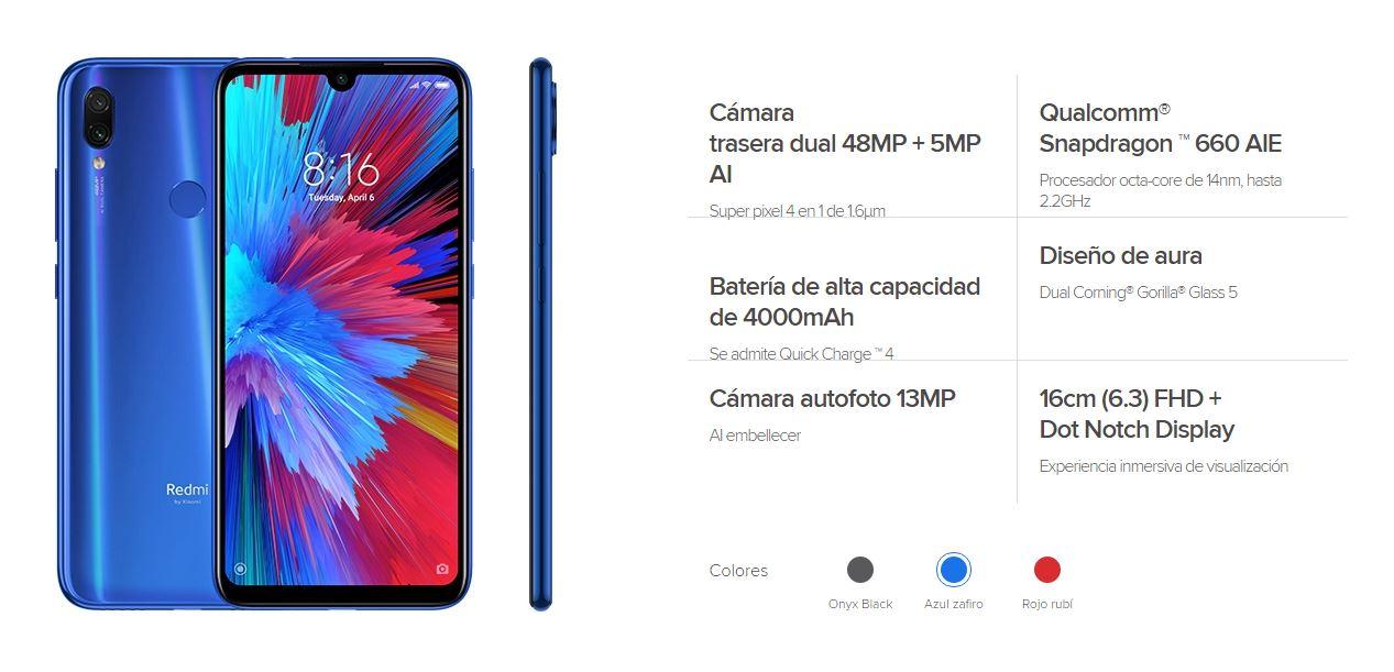 Redmi Note 7S características, especificaciones y precio. Noticias Xiaomi Adictos