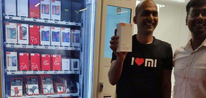 Xiaomi despliega sus maquinas expendedoras de smartphones y accesorios en la India. Noticias Xiaomi Adictos