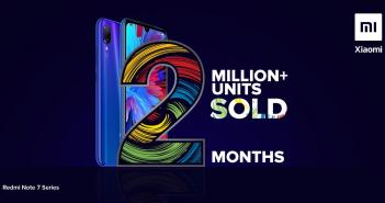 Redmi Note 7 consigue llegar a los 2 millones de unidades vendidas en la India. Noticias Xiaomi Adictos