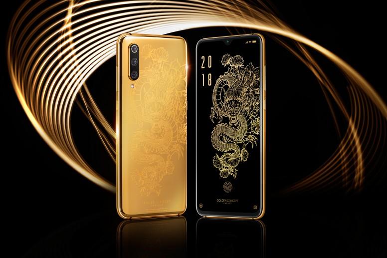 Xiaomi Mi 9 tapa y funda Golden Concept de lujo. Oro de 24 kilates. Noticias Xiaomi Adictos