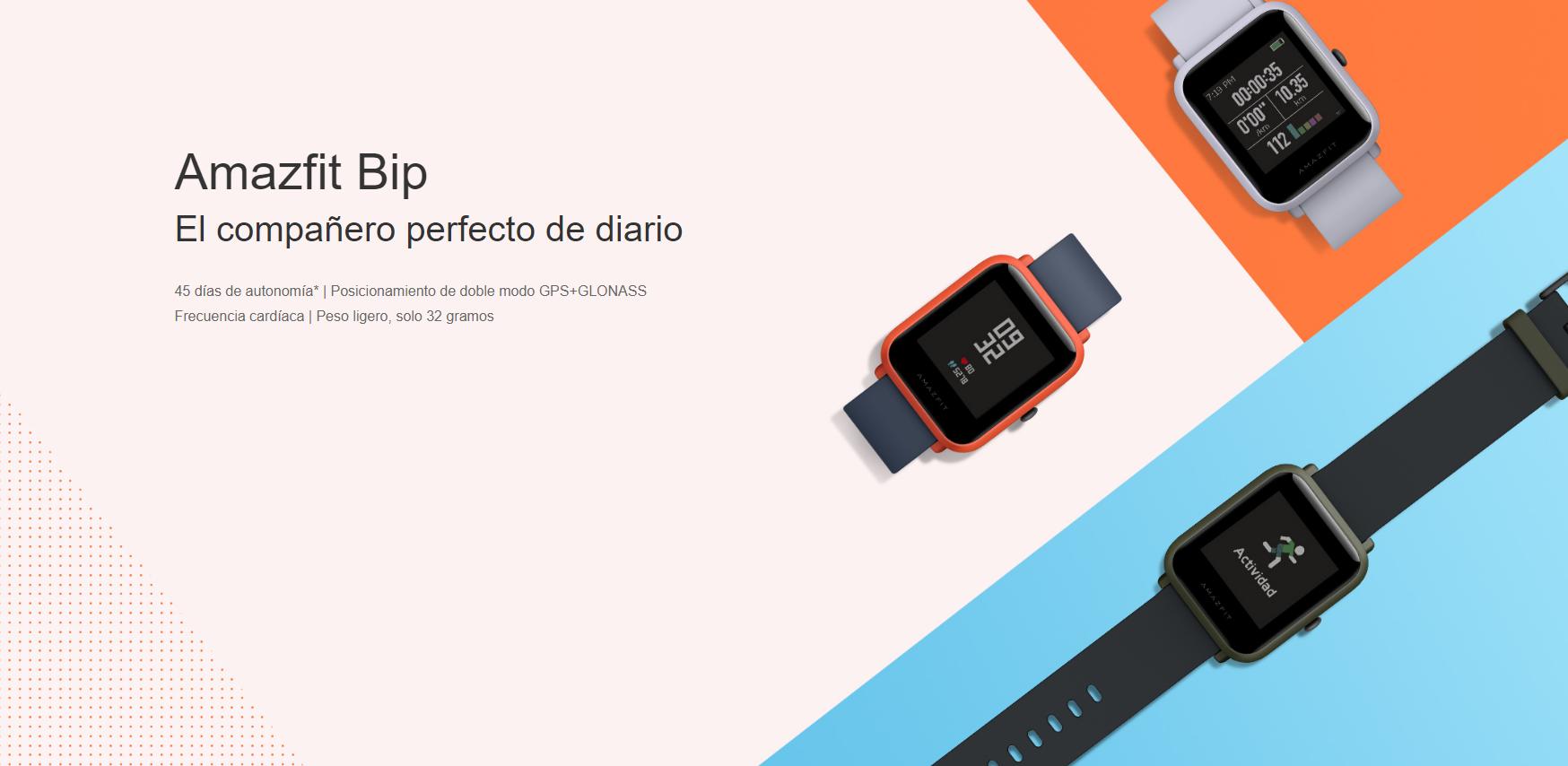 Comprar Amazfit Verge Lite y Bip al mejor precio en oferta. Noticias Xiaomi Adictos
