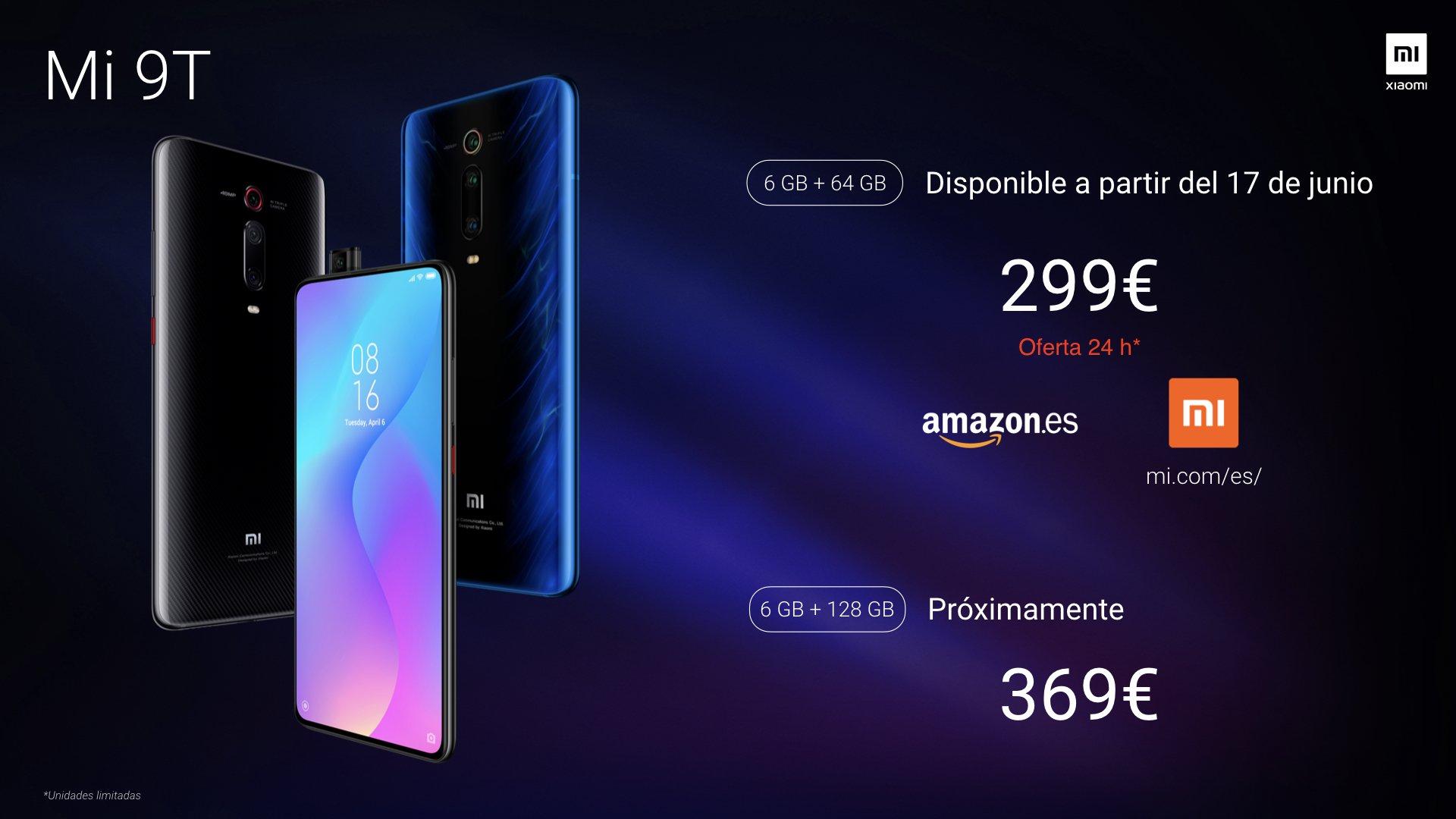 Comprar y reservar Xiaomi Mi 9T al mejor precio en Amazon España. Noticias Xiaomi Adictos