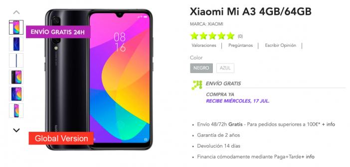 Xiaomi Mi A3, características, precio ya a la venta. Noticias Xiaomi Adictos