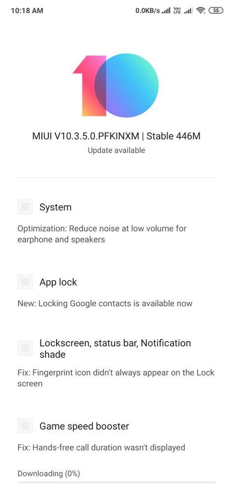 Nueva actualización MIUI 10 v10.3.5.0.PFKCINXM para el Redmi K20 Pro. Noticias Xiaomi Adictos
