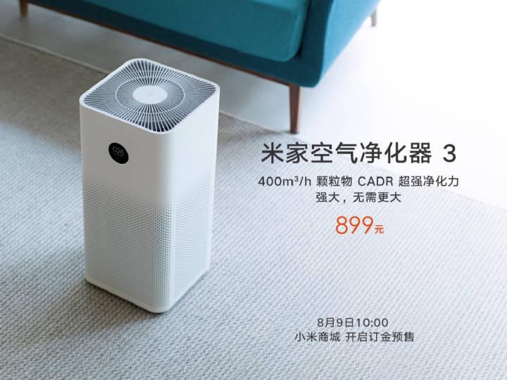 Nuevo Xiaomi Mi Air Purifier 3, características, especificaciones y precio. Noticias Xiaomi Adictos