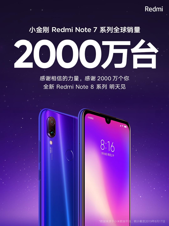 Redmi Note 7 supera los 20 millones de unidades vendidas. Noticias Xiaomi Adictos