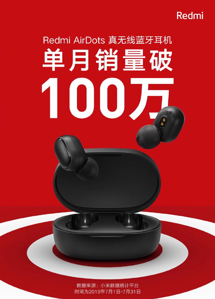 Redmi AirDots son todo un éxito y alcanzan 1 millón de unidades vendidas al mes. Noticias Xiaomi Adictos