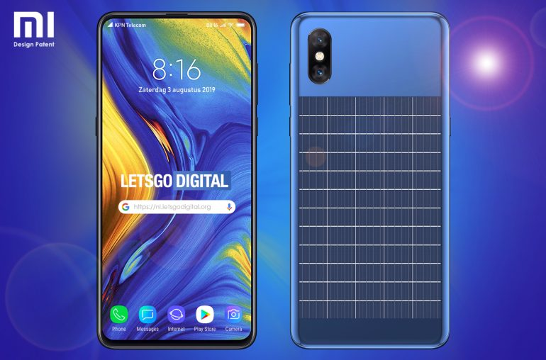 Nueva patente de Xiaomi muestra smartphone con carga solar. Noticias Xiaomi Adictos