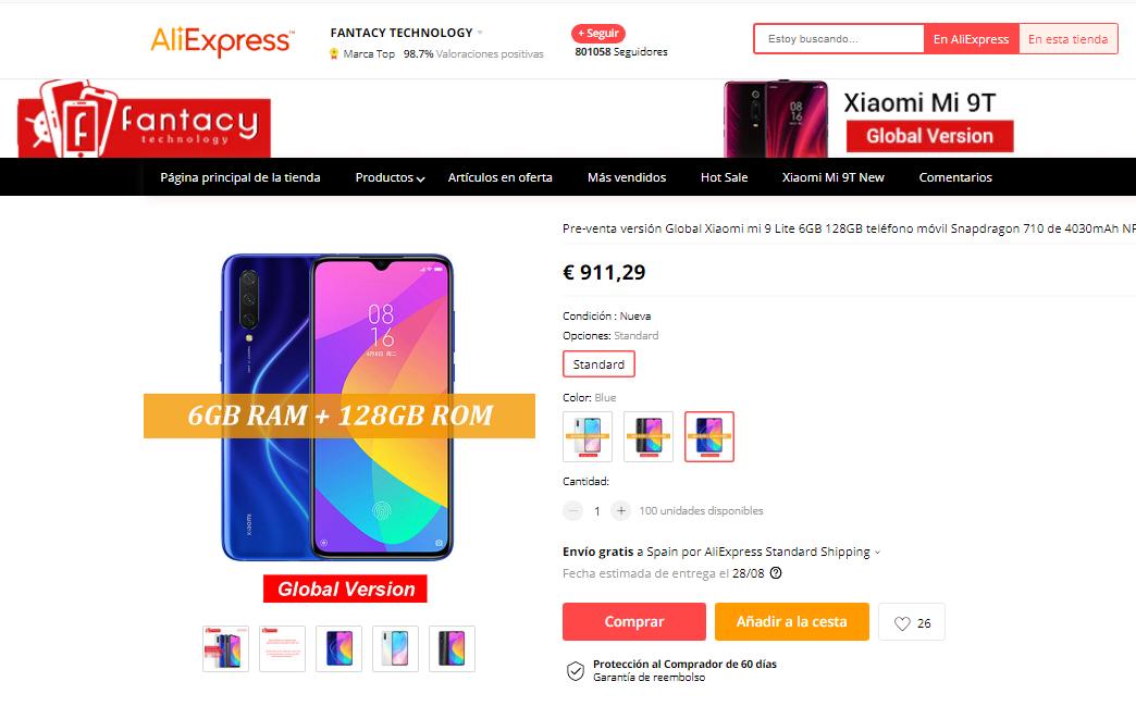 Nuevo Xiaomi Mi 9 Lite aparece en pre-venta. Noticias Xiaomi Adictos