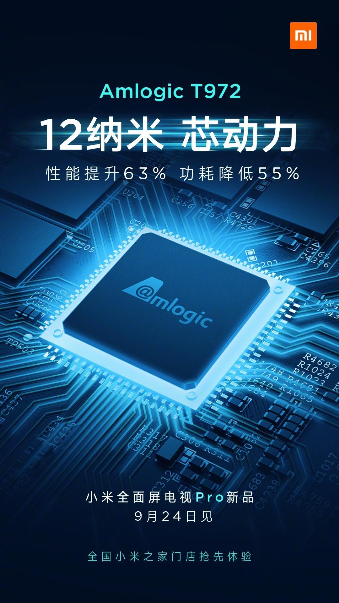 Los nuevos Xiaomi TV Pro tendrán un procesador Amlogic más potente de 12nm. Noticias Xiaomi Adictos