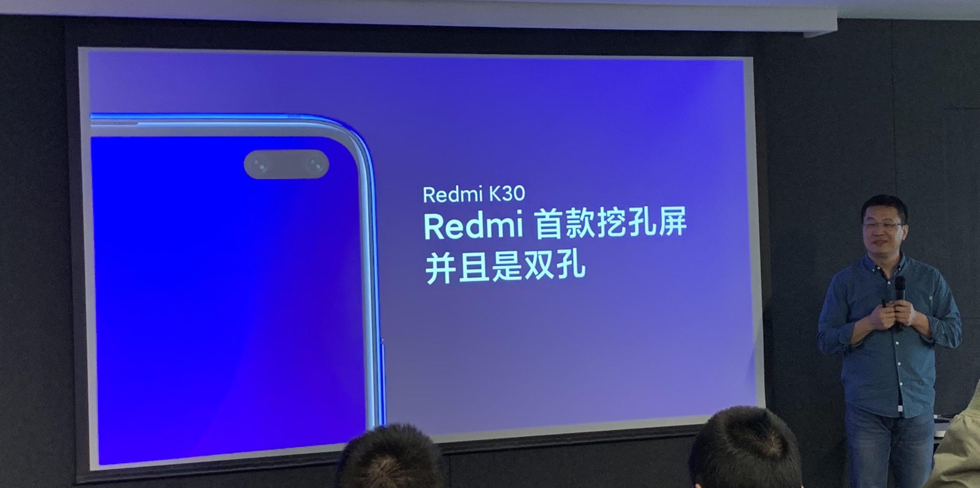 Lu Weibing anunciando el próximo Redmi K30. Noticias Xiaomi Adictos