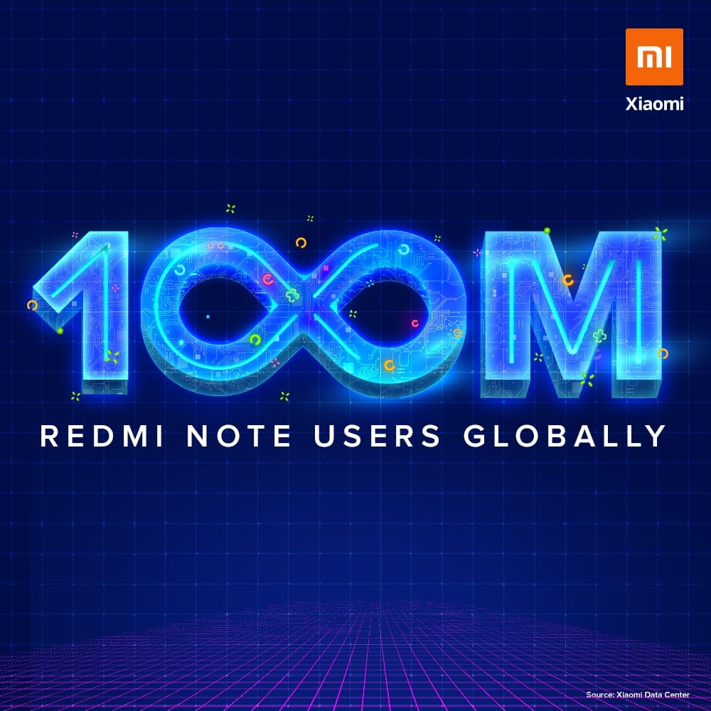 Xiaomi Redmi Note series reaches 100 million users worldwide. Xiaomi Addicted News