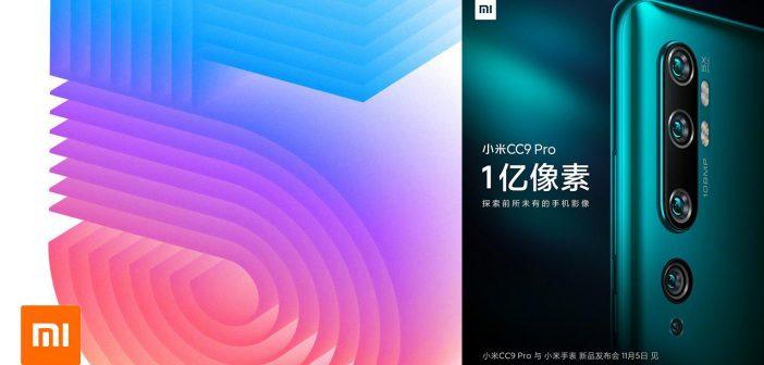 Xiaomi CC9 Pro, Mi Watch Color y Mi TV 5 llegarán este 5 de noviembre. Noticias Xiaomi Adictos