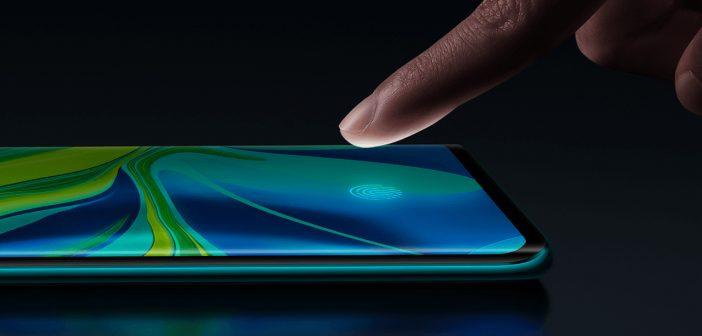 Funcionamiento del lector de huellas en pantalla del Xiaomi Mi Note 10. Noticias Xiaomi Adictos