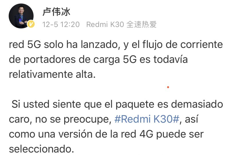El nuevo Redmi K30 llegará en dos versiones con 5G y 4G LTE. Noticias Xiaomi Adictos
