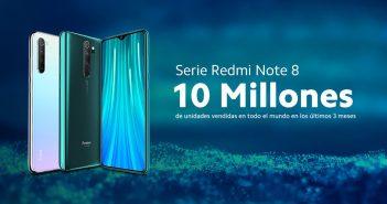 Las ventas de la gama Redmi Note 8 de Xiaomi alcanzan los 10 millones de unidades. Noticias Xiaomi Adictos
