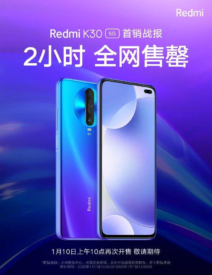 El nuevo Redmi K30 5G se convierte en todo un éxito agotando sus existencias en apenas 2 horas. Noticias Xiaomi Adictos