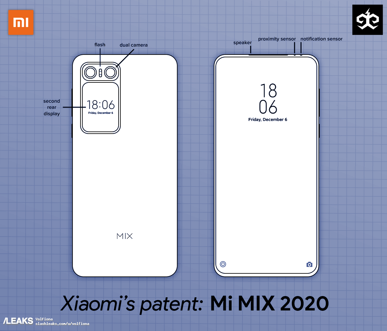 Xiaomi Mi Mix 2020: this is the last patent registered by Xiaomi that could see the light this year
