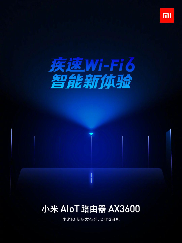 Xiaomi presentará este 13 de febrero su nuevo router WiFI 6 ax3600. Noticias Xiaomi Adictos