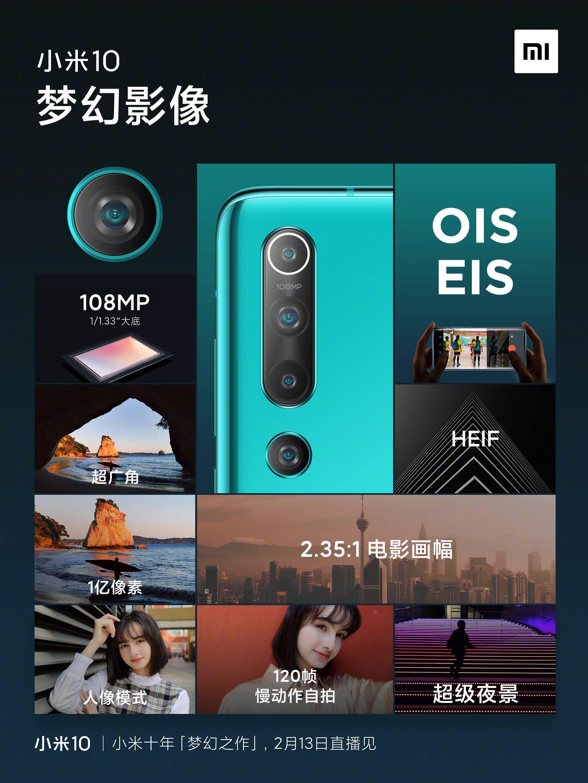 El Xiaomi Mi 10 contará con cámara de 108MP, estabilizador óptico y soporte HEIF. Noticias Xiaomi Adictos