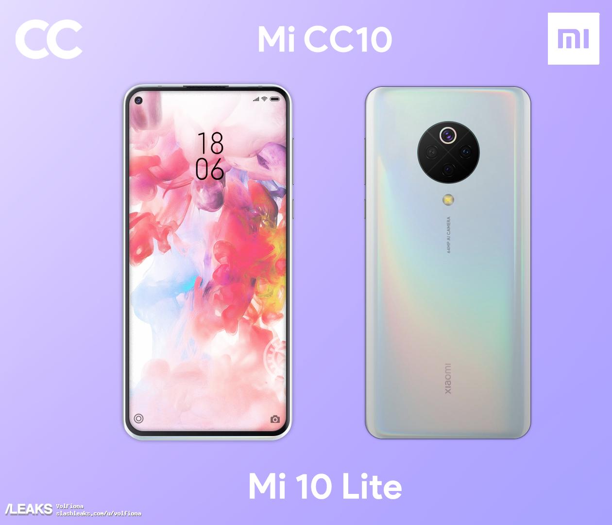 Posible diseño del Xiaomi Mi 10 Lite. Noticias Xiaomi Adictos