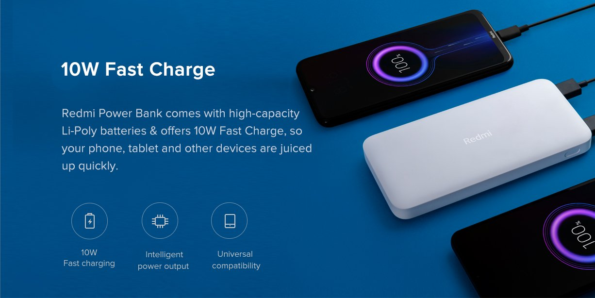 Redmi introduces two new 10,000 and 20,000mAh Power Banks with 18W fast charging in India that we already knew in part