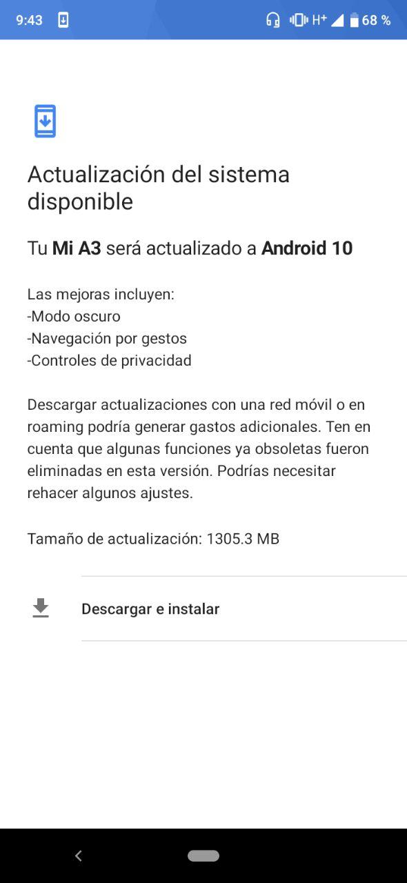 El Xiaomi Mi A3 se actualiza finalmente a Android 10. Noticias Xiaomi Adictos