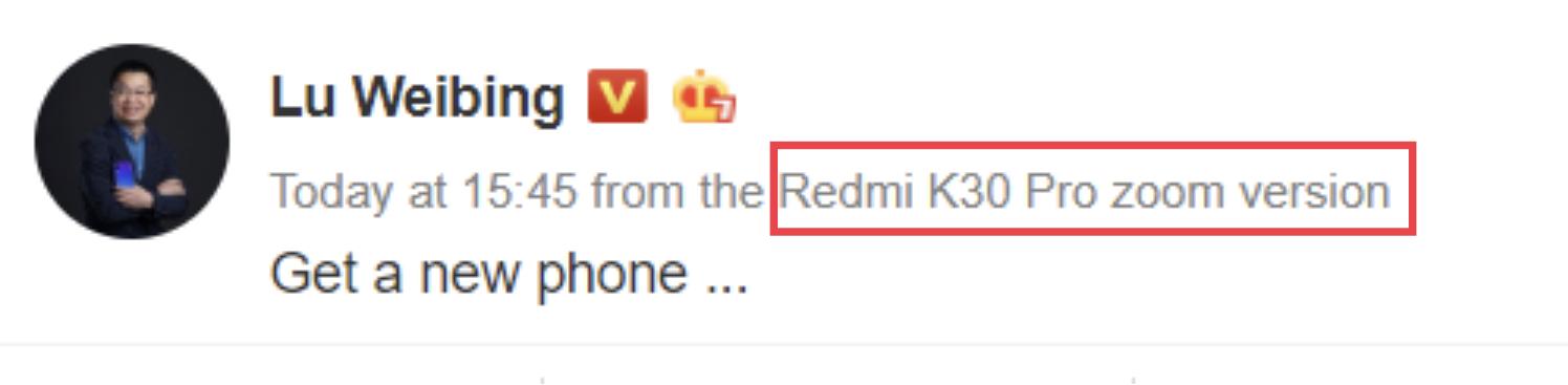 Redmi K30 Pro Zoom Version: una variante más del Redmi K30 que acaba de ser confirmada por su propio CEO. Noticias Xiaomi Adictos
