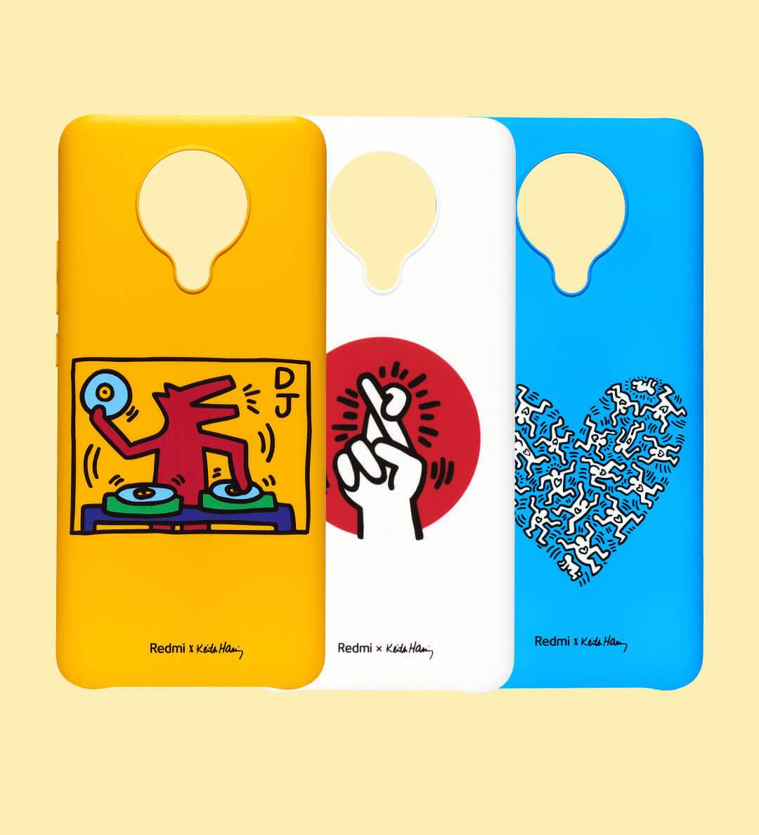 Así lucen las fundas oficiales del Redmi K30 Pro basadas en el arte urbano de Keith Haring. Noticias Xiaomi Adictos
