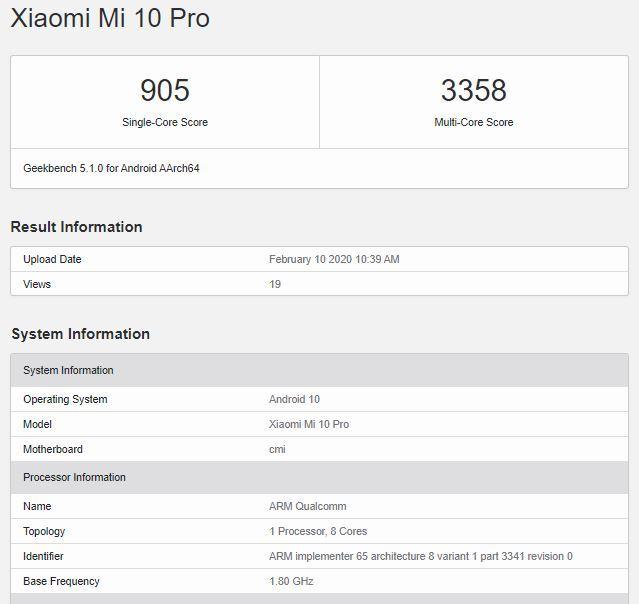 El Redmi K30 Pro Zoom Edition aparece en GeekBench junto a un rendimiento a la par del Xiaomi Mi 10 Pro. Noticias Xiaomi Adictos