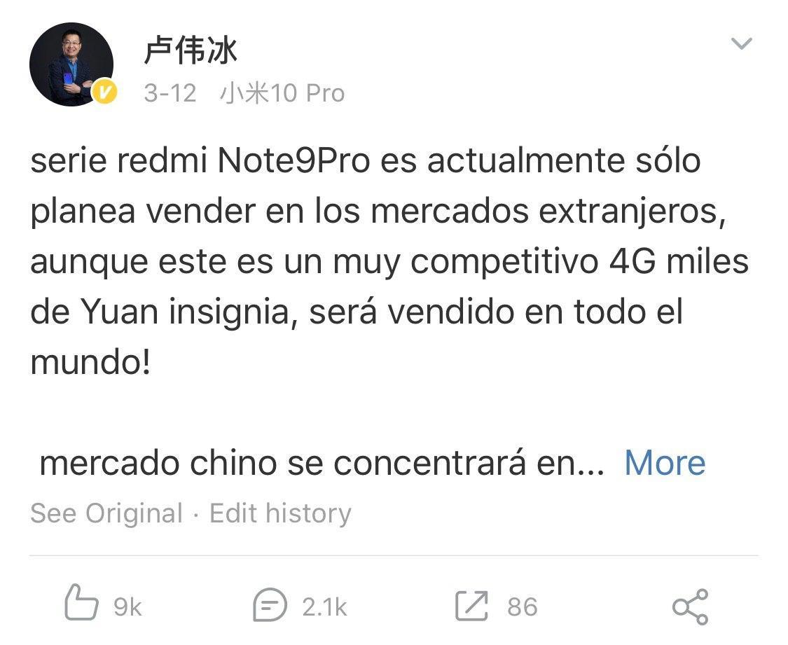 Xiaomi dice adiós a la gama Redmi Note y a cualquier smartphone de más de 265€ que no disponga de 5G. Noticias Xiaomi Adictos