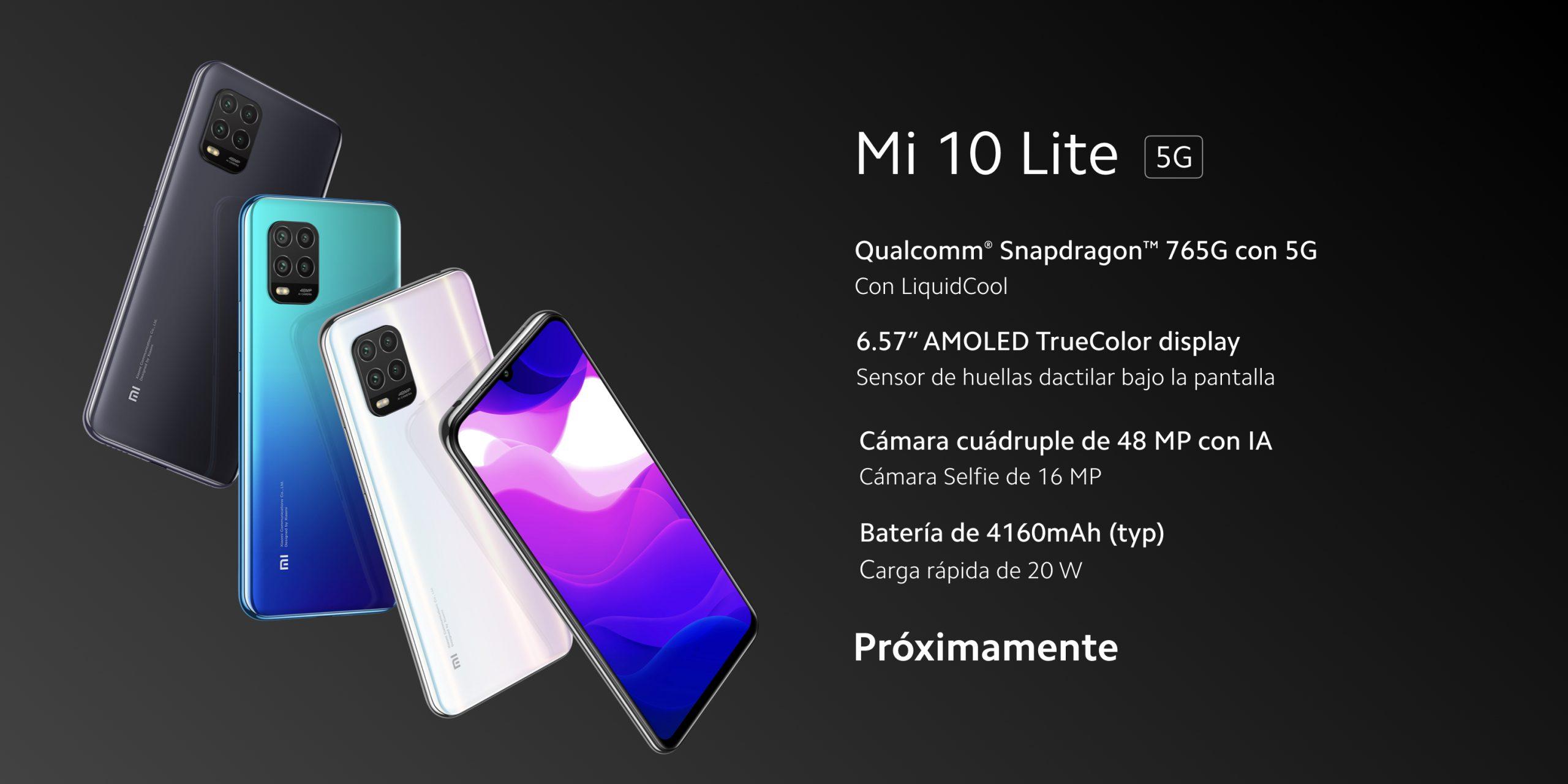 """Así es el nuevo Xiaomi Mi 10 Lite 5G: Snapdragon 765G, AMOLED de 6.57"""" y batería de 4.160mAh. Noticias Xiaomi Adictos"""