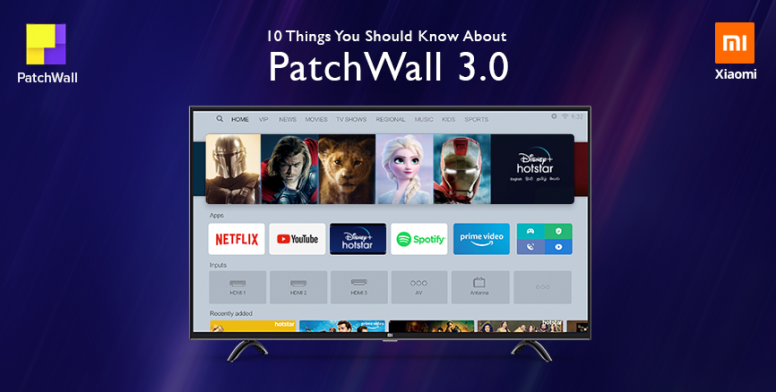 Xiaomi presenta PatchWall 3.0: grandes cambios llegan al sistema operativo para televisores basado en Android TV